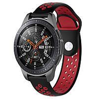 Ремешок BeWatch sport-style для Samsung Galaxy Watch 46 мм Черно-Красный (1020113), фото 1