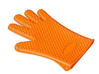 Перчатка BBQ термостойкая силиконовая  Оранжевый