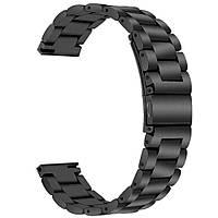 Ремешок BeWatch стальной браслет универсальный 22 мм Черный (1020401.u), фото 1