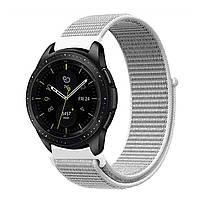 Ремешок BeWatch нейлоновый липучка для Samsung Galaxy Watch 46 мм Белый (1011311), фото 1