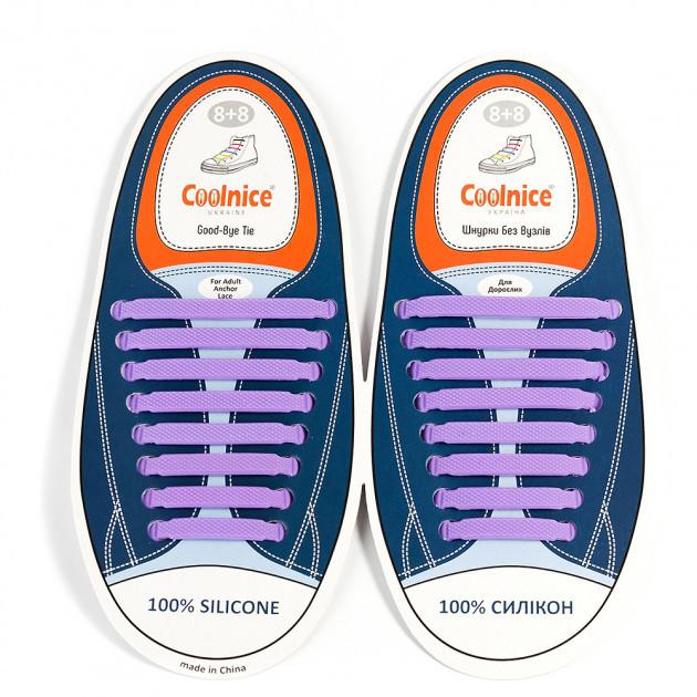 Силиконовые шнурки Coolnice В01 Фиолетовый (2d-318)
