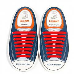 Силиконовые шнурки Coolnice В02 Красный (2d-316)