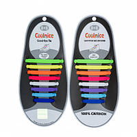 Силиконовые шнурки Coolnice В05 Радуга Разноцветный (2d-324)