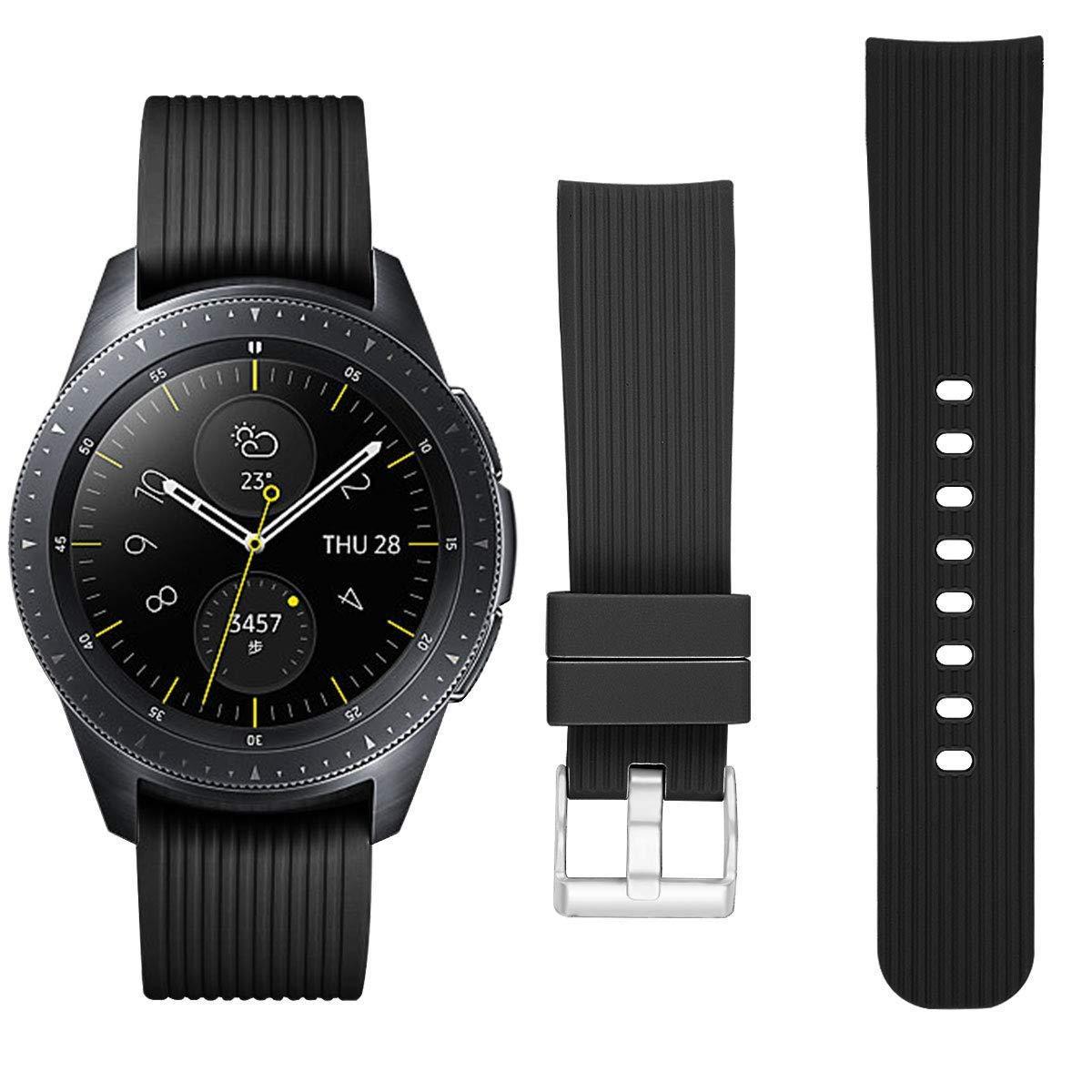 Ремешок BeWatch шириной 20 мм для Samsung Galaxy Watch 42 mm \ Galaxy Active Черный (1012101)
