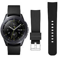 Ремешок BeWatch шириной 20 мм для Samsung Galaxy Watch 42 mm \ Galaxy Active Черный (1012101), фото 1