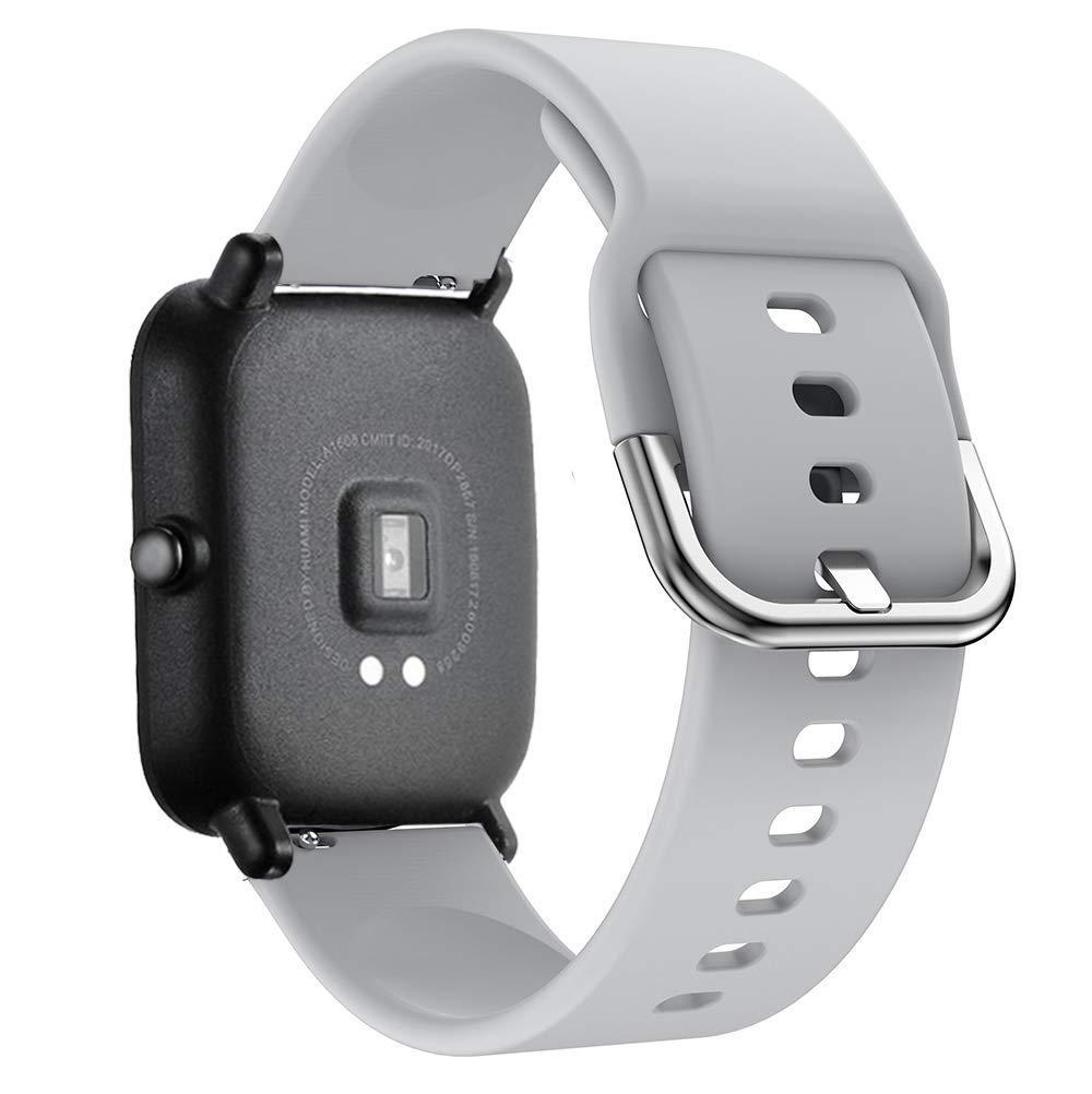 Ремешок BeWatch New силиконовый 20мм для Xiaomi Amazfit BIP Серый (1012304)