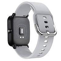 Ремешок BeWatch New силиконовый 20мм для Xiaomi Amazfit BIP Серый (1012304), фото 1