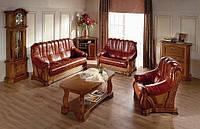 """PYKA Кожанные раскладные уголки и диваны с креслами """"FRYDERYK I,II"""""""