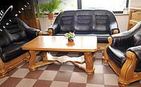 """PYKA Кожанные раскладные уголки и диваны с креслами """"CEZAR IV"""""""