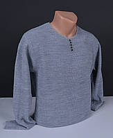 Мужской свитер  Vip Stendo серый | пуловер с пуговицами Турция 062