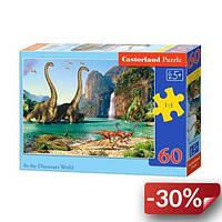 Пазлы Castorland Мир динозавров 60 элементов (TOY-38186)
