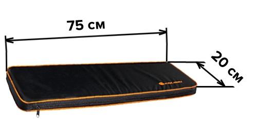Мягкое сиденье 75х20 см для надувной лодки