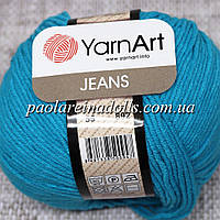 Пряжа ЯрнАрт Джинс YarnArt Jeans, цвет №55 бирюза