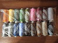 Набор ниток IDEAL  швейные  №40-полиэстер из 18шт  плюс распариватель, щипцы-ножницы и набор игл швейных