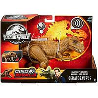 Фигурка Цератозавр звуковая Мир Юрского Периода Jurassic World Roarivores™ Ceratosaurus Mattel GHT11