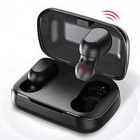 Наушники Topk беспроводные сенсорные с микрофоном и магнитным зарядным кейсом Bluetooth 5.0 Чёрные (TWS-L21)