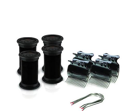 Электробигуди Diva, черные, бигуди+шпильки+зажимы, 32мм (D422), фото 2