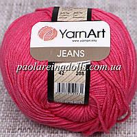 Пряжа ЯрнАрт Джинс YarnArt Jeans, цвет №42 малиновый