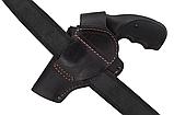 Кобура поясная Револьвер 3 формованная (кожа, чёрная), фото 4