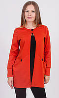 Пиджак женский удлиненный терракот, фото 1