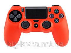 Силиконовый чехол для геймпада DualShock 4 (PS4) противоскользящий  Красный