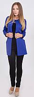 Пиджак женский удлиненный синий, фото 1