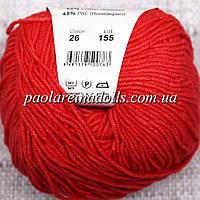 Пряжа ЯрнАрт Джинс YarnArt Jeans, цвет №26 красный