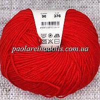 Пряжа ЯрнАрт Джинс YarnArt Jeans, цвет №90 красный