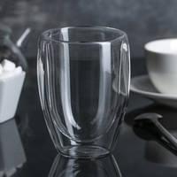 Большой стакан с двойными стенками Helios 300 мл (6747)