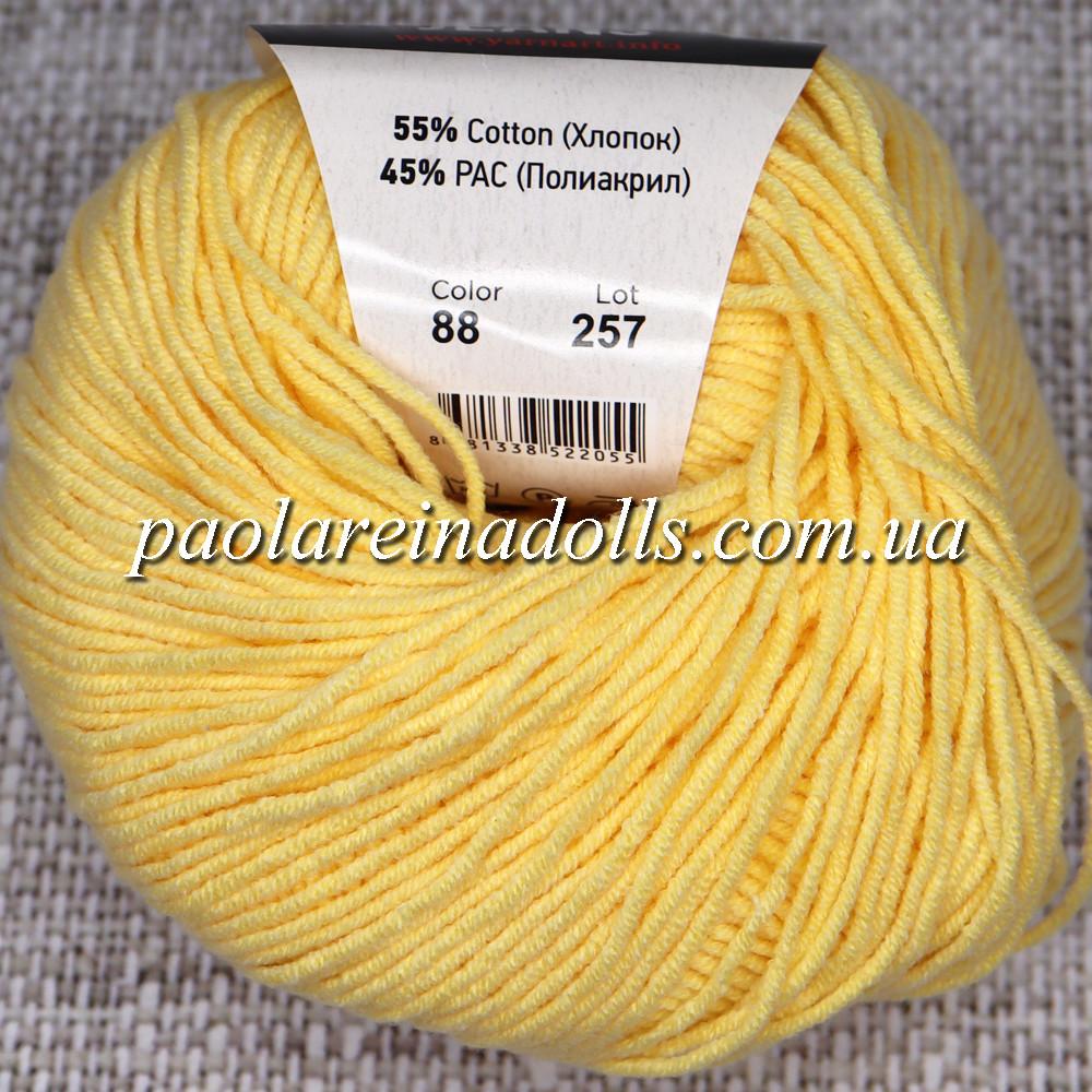 Пряжа ЯрнАрт Джинс YarnArt Jeans, цвет №88 желтый