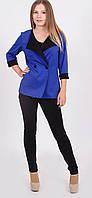 Пиджак женский короткий синяя