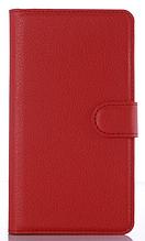Кожаный чехол-книжка для Xiaomi Redmi note 3/ note 3 pro красный