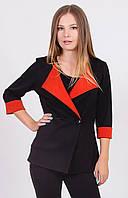 Пиджак женский короткий черный, фото 1