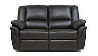 BostonSofa Двухместный кожаный диван с функцией релаксации Alabama