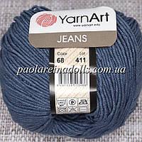 Пряжа ЯрнАрт Джинс YarnArt Jeans, цвет №68 светло серый джинс