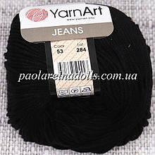 Пряжа ЯрнАрт Джинс YarnArt Jeans, цвет №53 черный