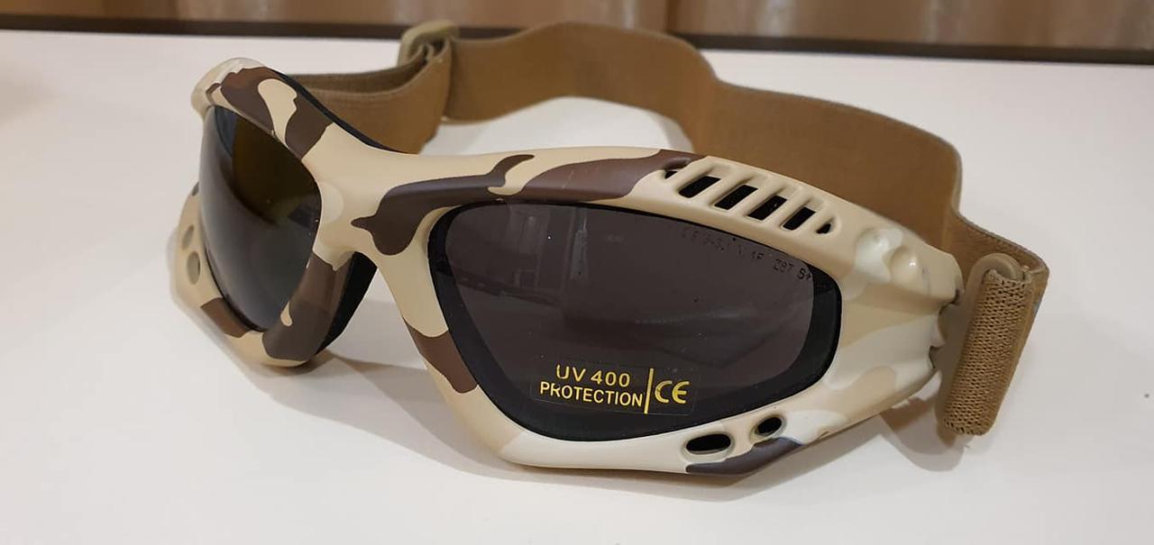 Защитные очки  Tactical Sport Brillen в расцветке desert от Miltec