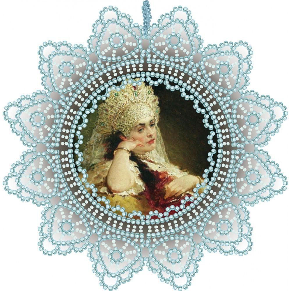Набор для вышивки подвески бисером Боярыня