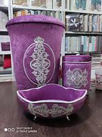 Набор корзин для ванной комнаты  Сиреневый 10, фото 1