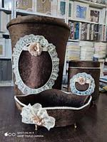 Набор корзин для ванной комнаты  Шоколадный 12, фото 1