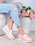 Туфлі лофери шкіра Maxi пудра 7006-28, фото 5