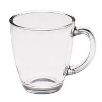 Чашка стеклянная глянцевая, 325мл, цвет Бесцветный