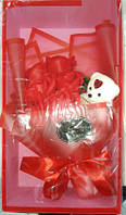 Букет Роз Ароматическое Мыло С Мишкой В Подарочной Коробке Подарок На День Святого Валентина 8 Марта