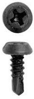 Шуруп с буром 3,5х9,5мм чёрный (блоха) 1000шт/уп