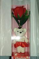 Подарочное Мыло Роза С Мишкой Для Ванной Подарок День Святого Валентина 8 Марта