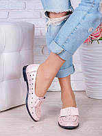 Туфли пудра кожаные Bant (лето) 7037-28, фото 1