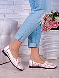 Туфлі пудра шкіряні Bant (літо) 7037-28, фото 2