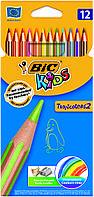 Карандаши цветные BIC  Tropicolors 2 (12 шт.)
