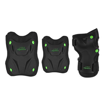 Комплект захисний Nils Extreme H407 Size L Black/Green, фото 2