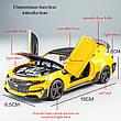 Модель автомобиля Chevrolet Camaro точная копия 1:32 со светящимися фарами и звуковыми эффектами мотора., фото 4